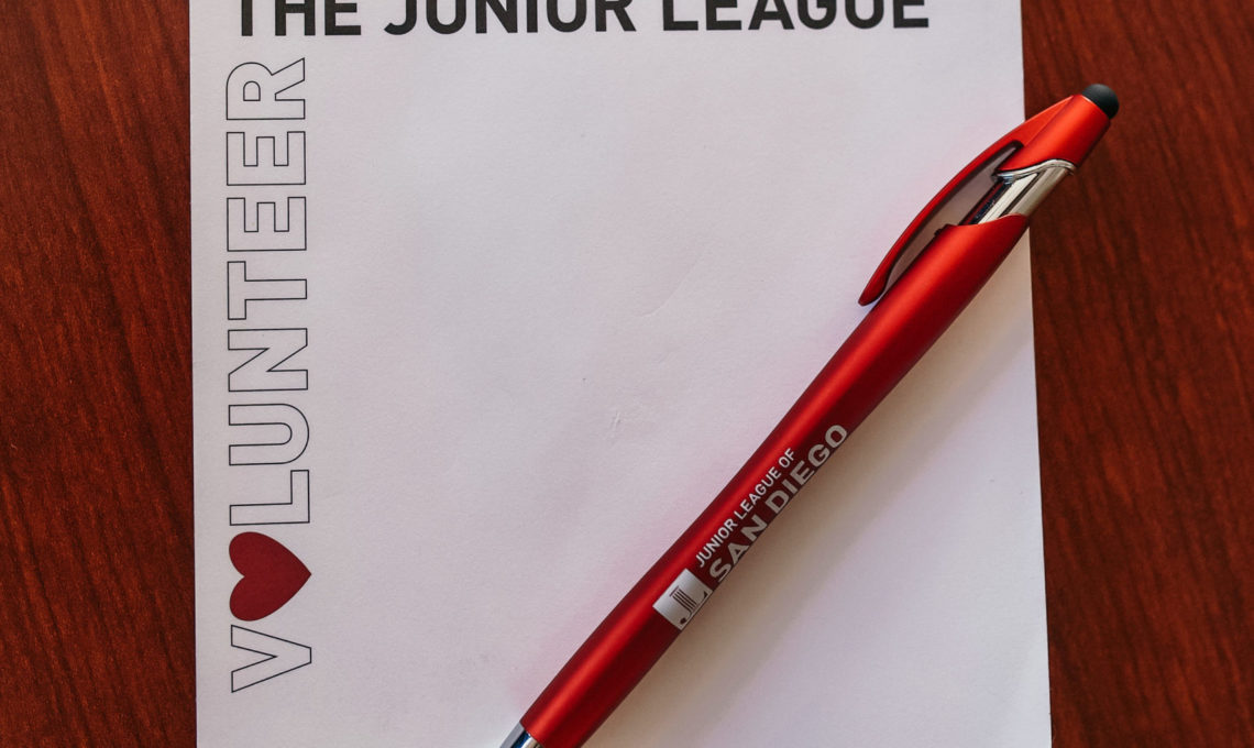 Junior League Volunteer notepad